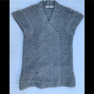 Reiss Women Tunic Sweater Medium Cardigan Gray